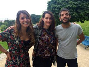 De gauche à droite : Claraluz, Lucie, et Alejandro. Crédit : C. Keiser